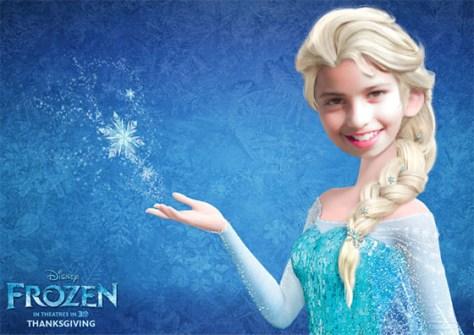 Fotomontaje Frozen Elsa