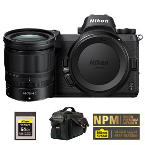Nikon Z6  24-70mm f/4 Kit with 64GB XQD Memory And Leather Bag
