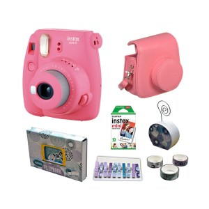 Fujifilm instax mini 9 Instant Film Camera Value Pack {Flaming Pink}