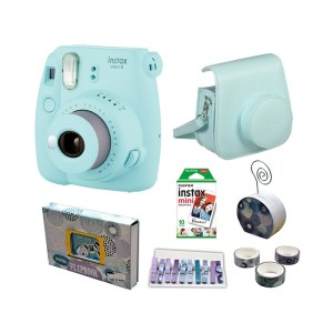 Fujifilm instax mini 9 Instant Film Camera Value Pack {Ice Blue}