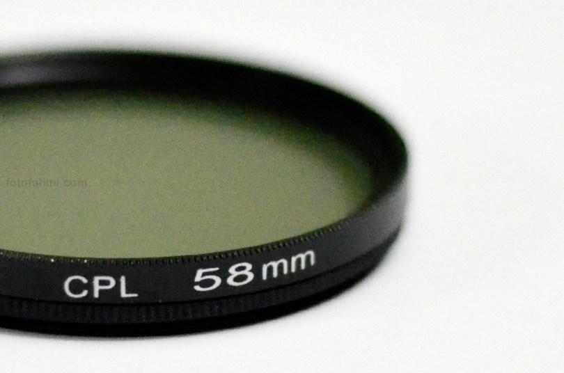 filter polarizer cpl 58mm