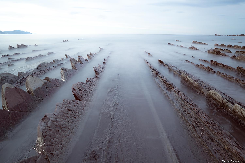 Flysch cliffs basque country