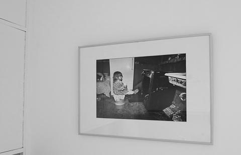 Herman LeRoy Emmet: Tina warming her feet - in my kitchen