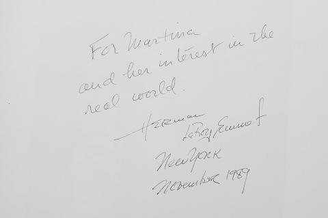 """Widmung von Herman LeRoy Emmet im Buch """"Fruit Tramps"""""""