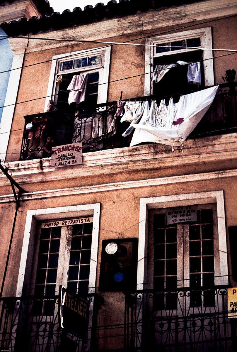 Straßenszene Brasilien – Vintage Wandbild