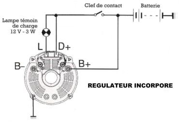 Schema branchement alternateur tracteur