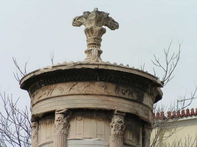 Architraw, fryz i zwieńczenie pomnika Lizykratesa