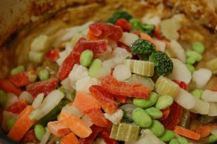 add frozen veggies