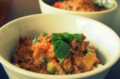 Braised Thai Green Curry Beef