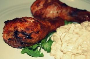 tandoori chicken and cucumber raita