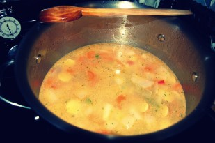 cover with chicken stock