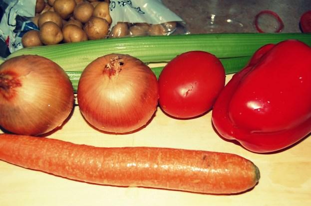 get the veggies ready