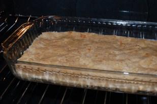 press crust into pan and bake
