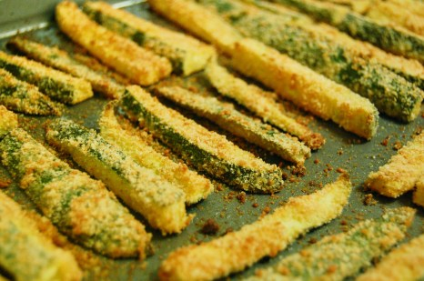 zucchini fries are ready