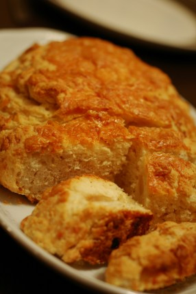 roasted garlic wheat beer bread