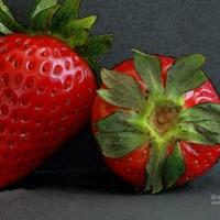Erdbeeren mit Malfilter