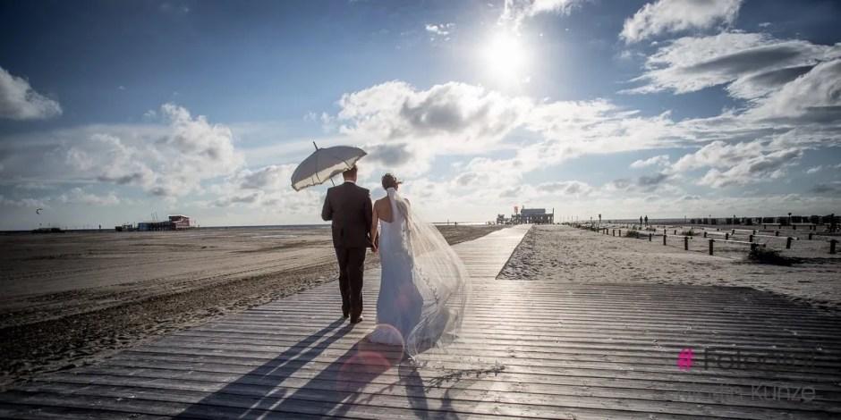 Hochzeit am Strand von Sankt Peter Ording