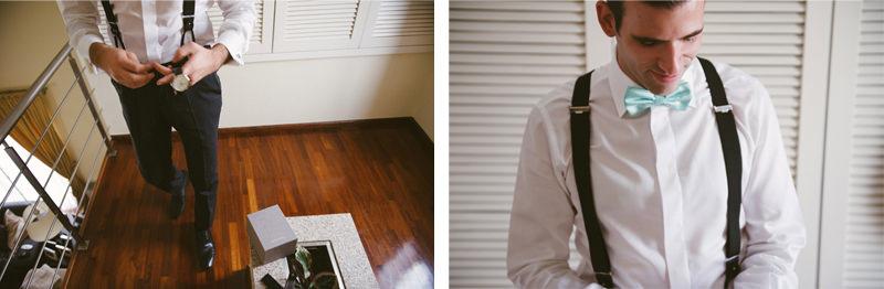 Porto wedding photographer - Groom in a bowtie