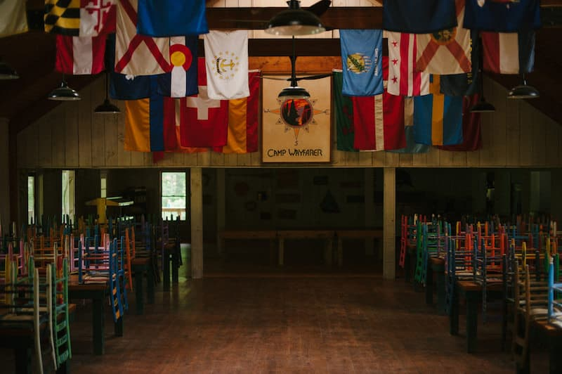 Camp Wayfarer dining room