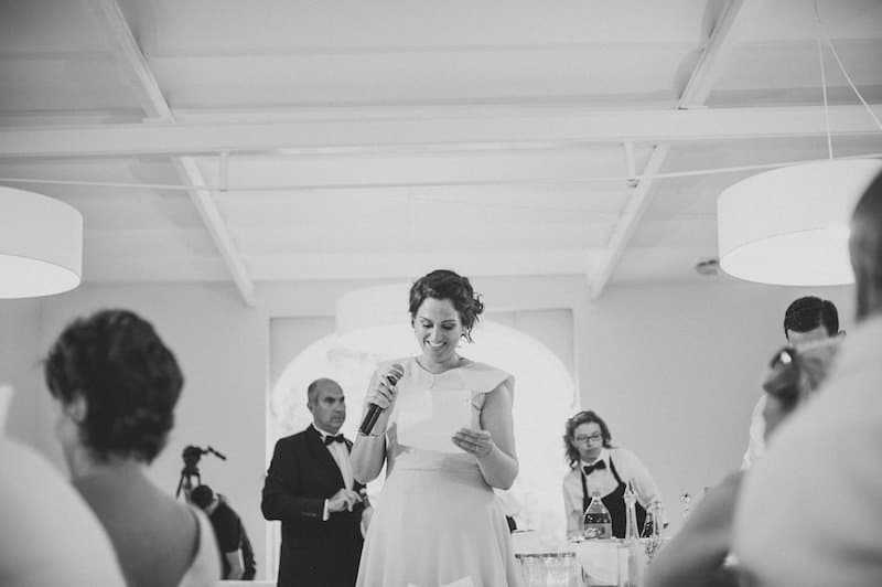 bride's sister's speech