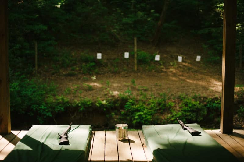 shooting range at camp wayfarer