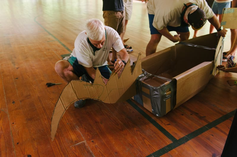 building a cardboard boat