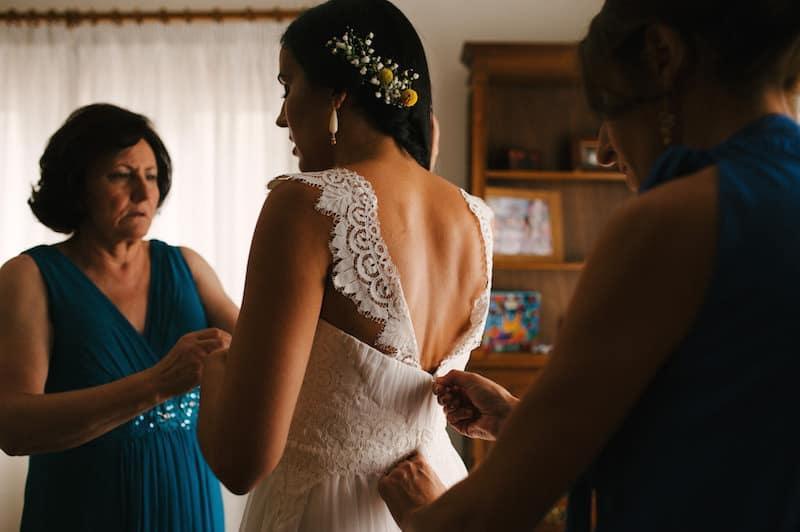 ideia para costas de vestido de noiva