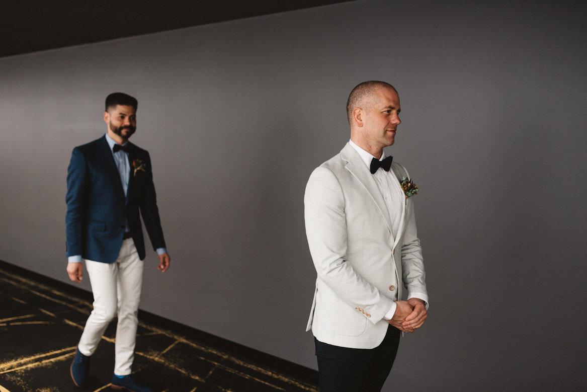 tasmania wedding photographer same sex wedding fist look