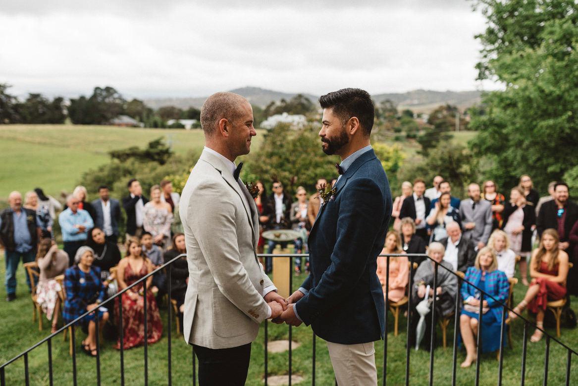 tasmania wedding photographer pooley wines same sex wedding