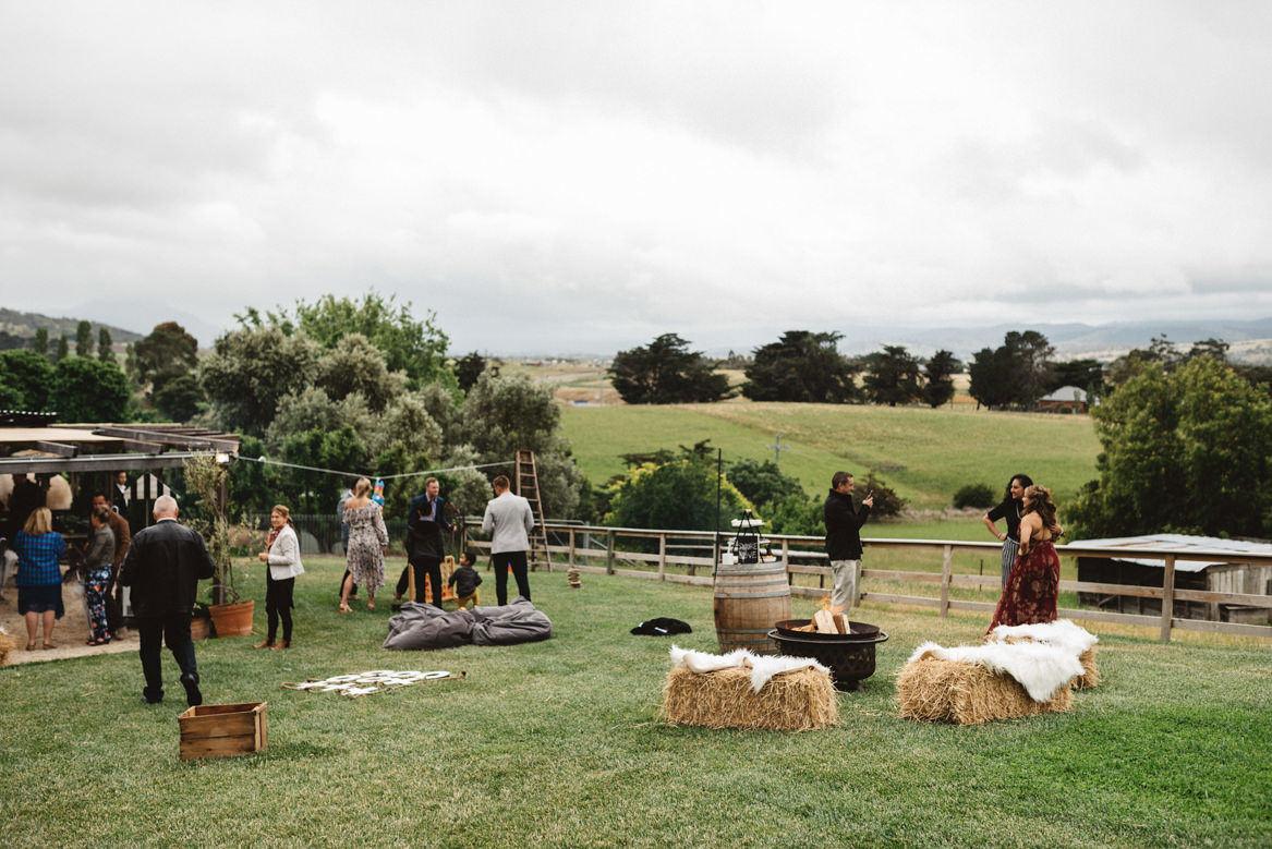 s'mores and woodfire venue tasmania wedding photographer