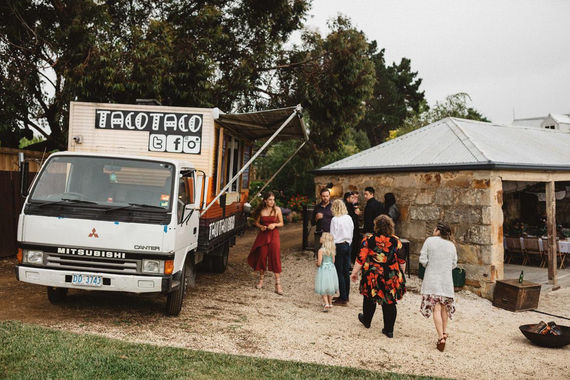 Tasmania wedding photographer taco truck