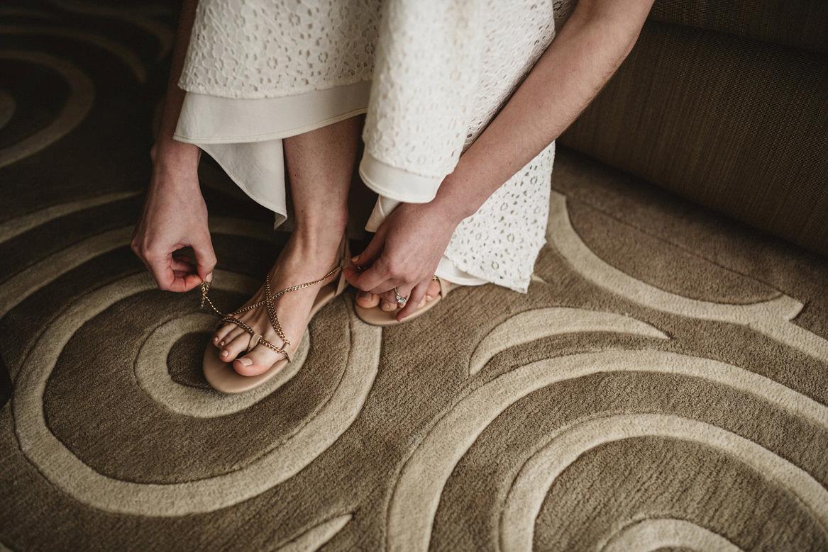 bridal shoe sandal