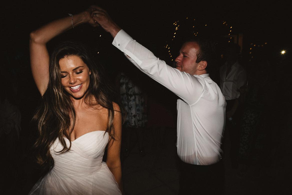bride and groom dancing during casa rupi wedding
