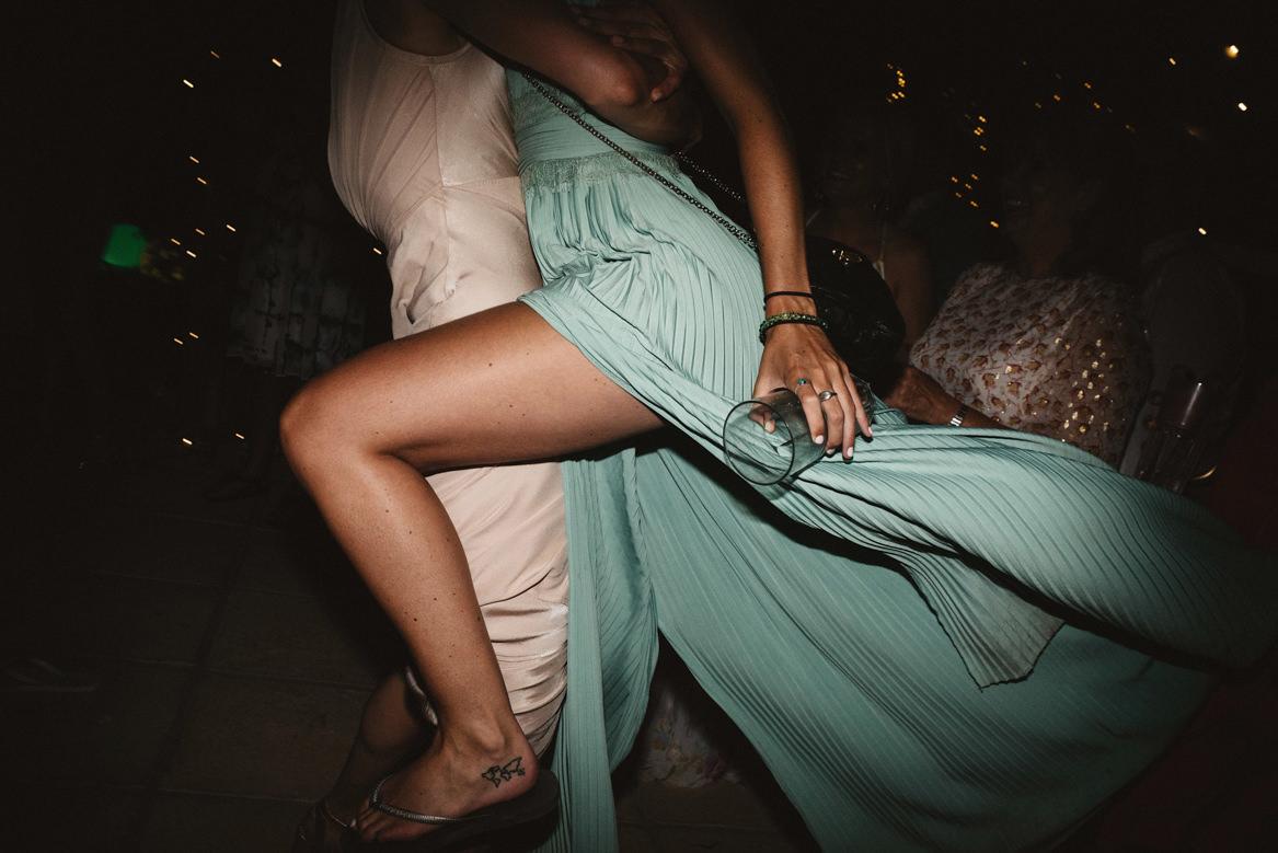 guests dancing on the dancefloor at casa rupi wedding