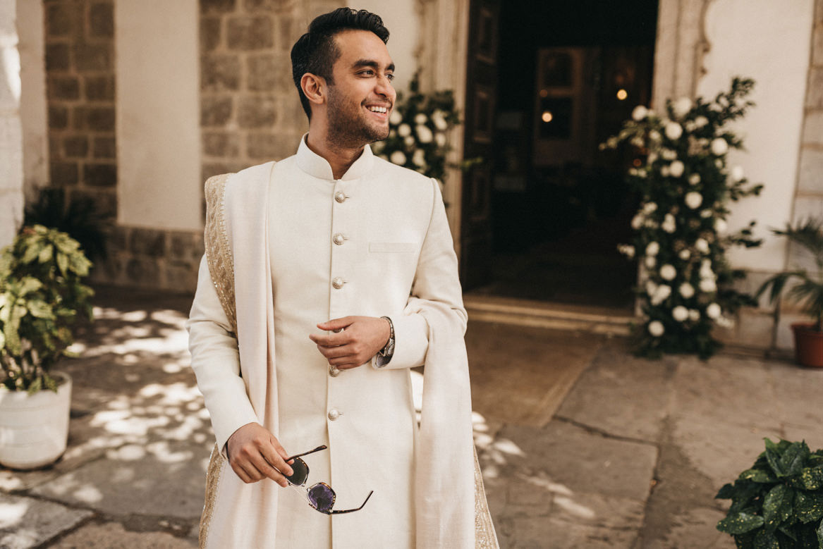 Indian groom waiting for bride