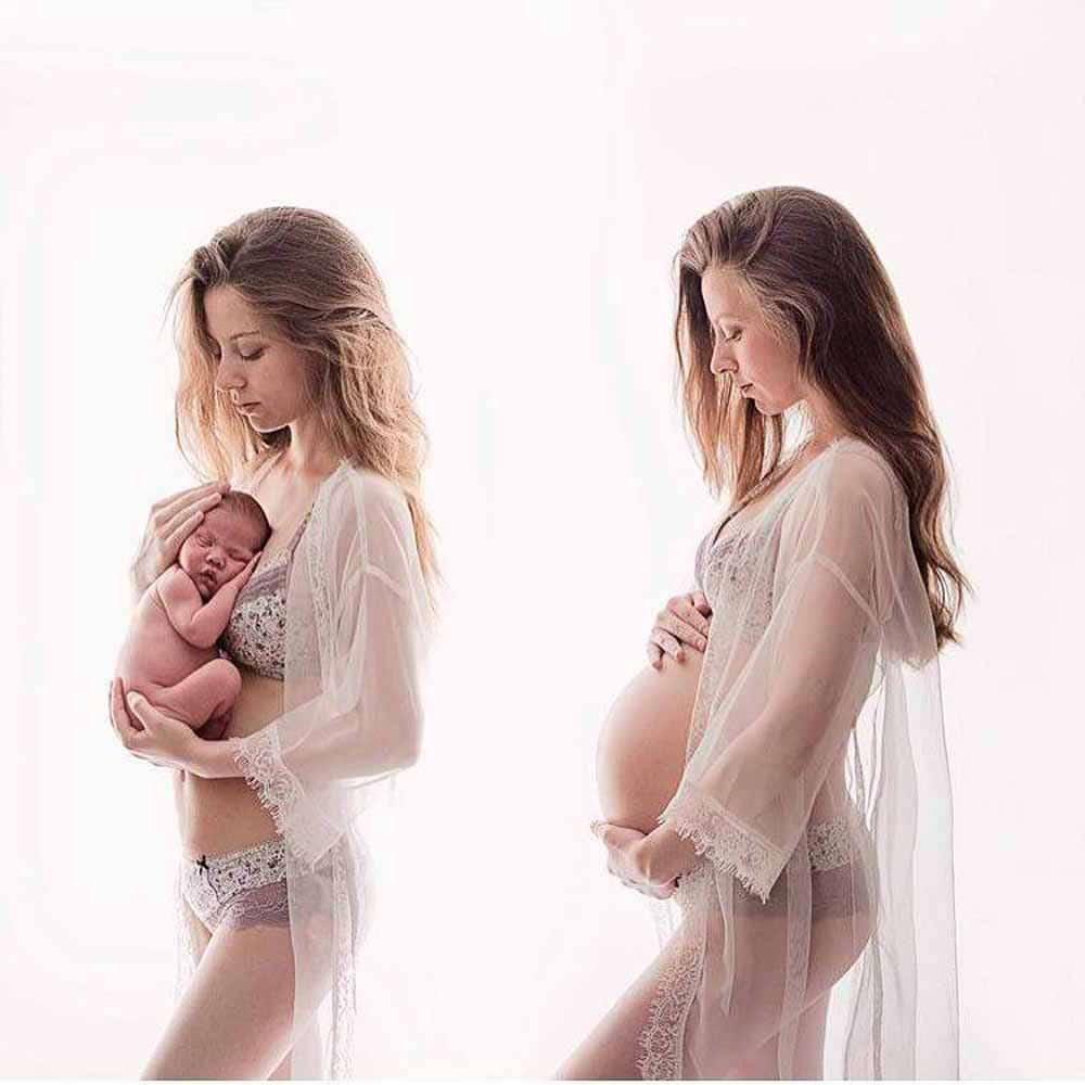 gravid kjole til fotografering Esbjerg