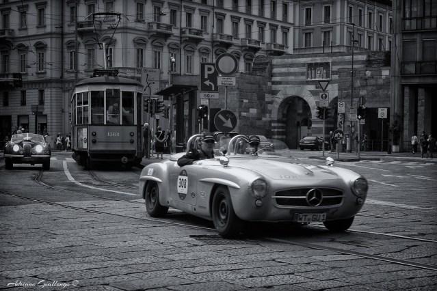 Jurgen Strasser, Jurgen Ludwig Blatter - MERCEDES-BENZ 190 SL 1956 - Piazza Cavour