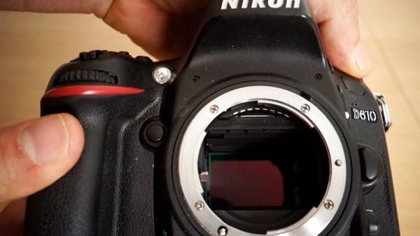 guida su come pulire reflex sensore fotografia nikon