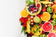 Fotografia di frutta, composizione di vari tipi di frutta
