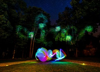 fotografare le luci in movimento disegnare con la luce