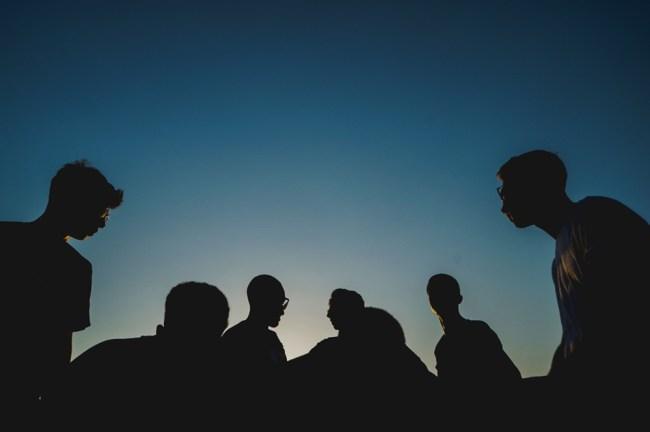 Esempio foto silhouette con il tasto di blocco dell'esposizione AEL AE-L