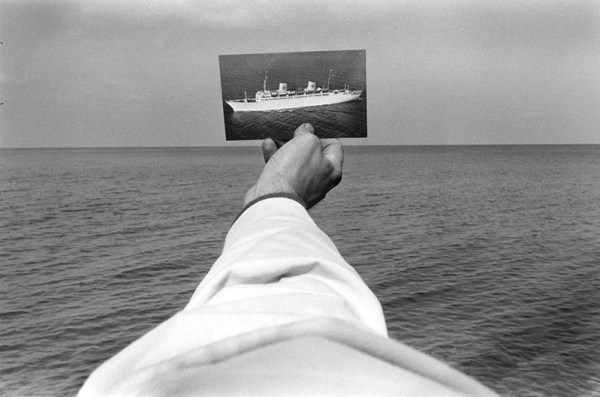 Kenneth Josephson new york state foto nave bianco e nero mare