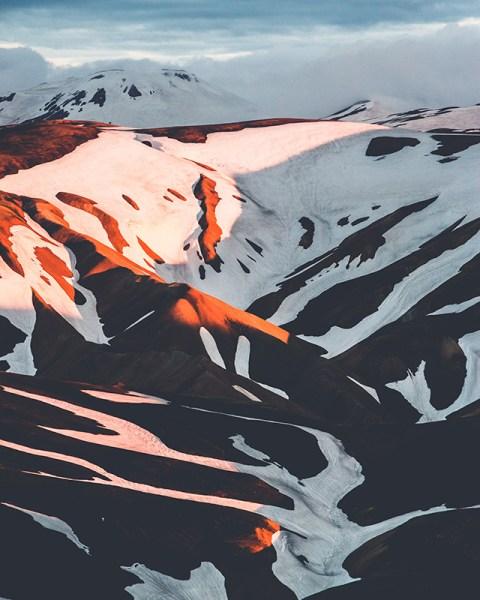 neve contrasto linee composizione montagne innevate