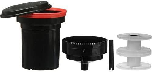 tank e spirale per lo sviluppo di una pellicola film negativo