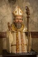 Un busto ligneo raffigurante Sant'Ippazio, protettore di Tiggiano e degli organi maschili, nell'omomima Chiesa.