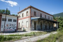 Lagonegro (PZ) stazione ferroviaria in disuso.