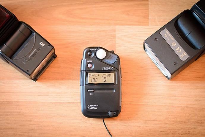fotômetro medição de luz