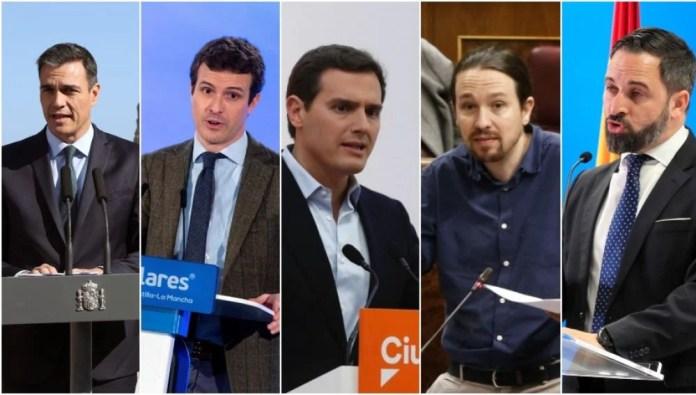 Resultado de imagen para Fotos de los líderes políticos españoles
