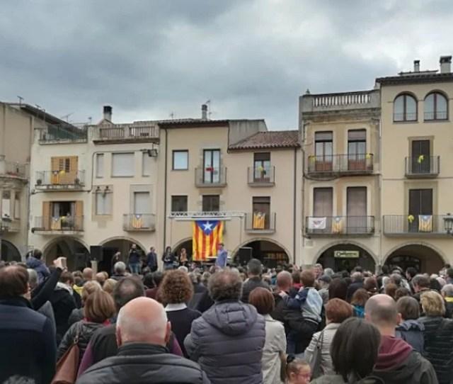 Manifestacion En Amer Girona