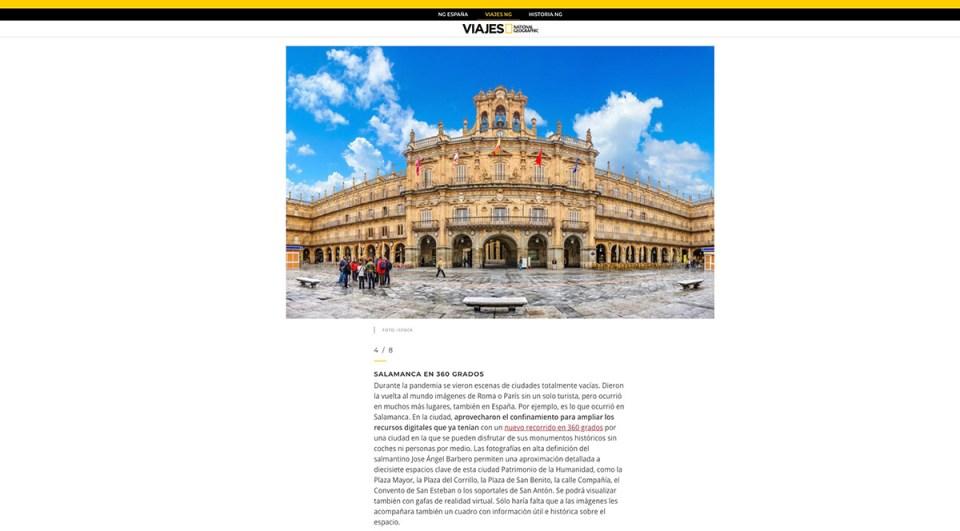 NATIONAL GEOGRAPHIC comparte nuestro trabajo – Experiencias 360º